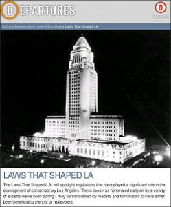 Laws that Shaped LA