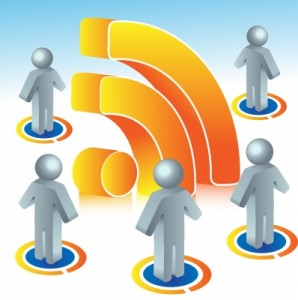 RSS feed symbol and people