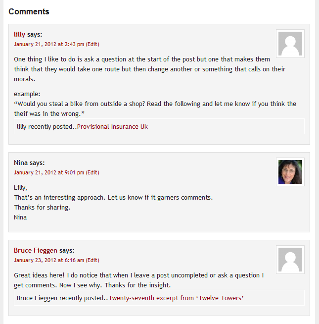 Replies to Comments Increase Engagement and Feedback on a Blogged Book