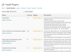 Find social share plugins for your blog