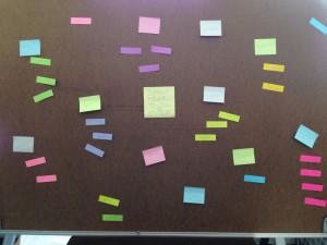 sitcky note mind map
