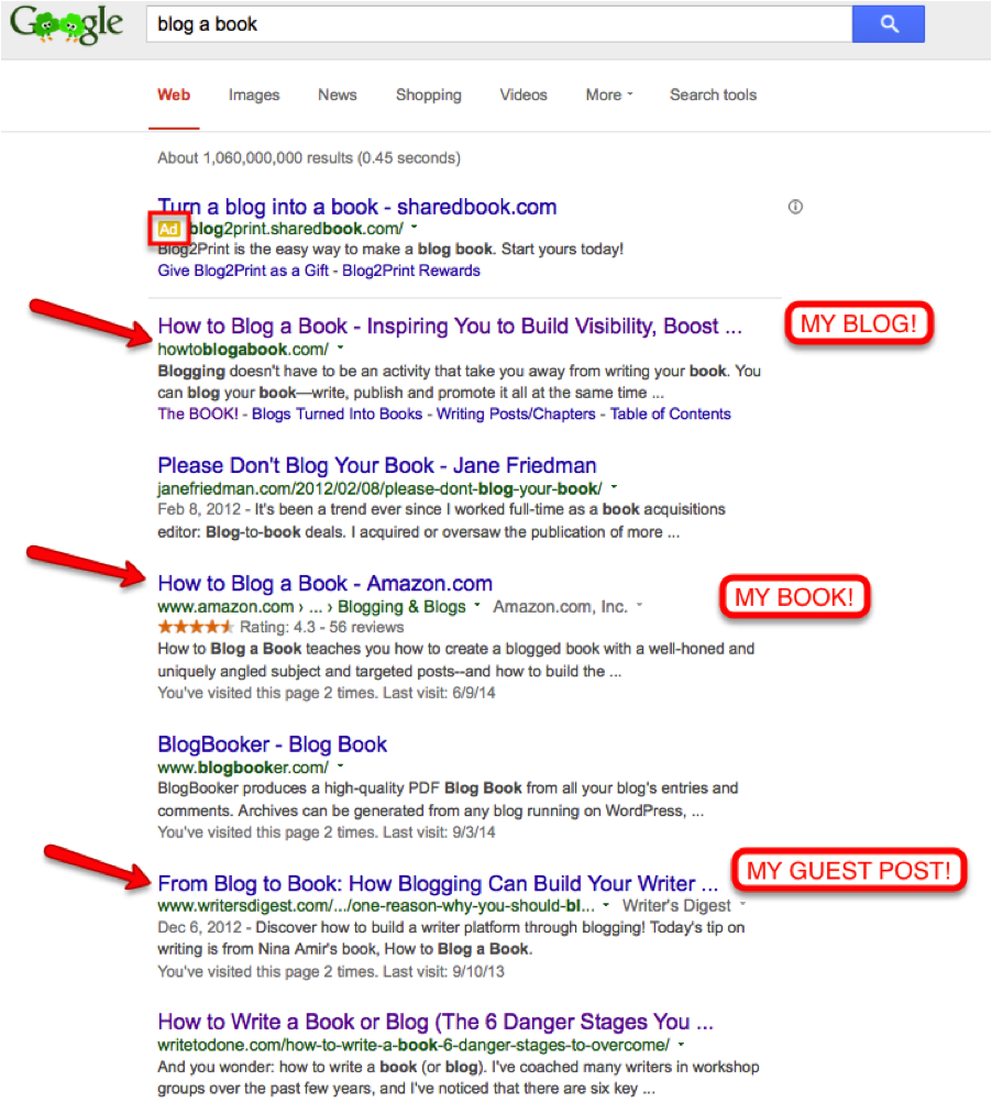 Expert status seen in the SERPs