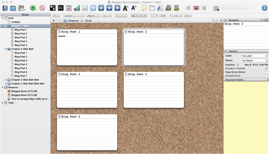 How to Blog a Book Using Scrivener