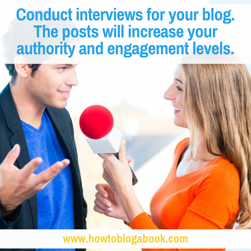 How to Land and Conduct Interviews for Your Blog